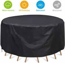 Garden Patio Furniture Cover Waterproof Round Protective Outdoor Table Cover Us