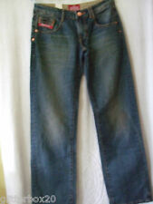 "NEW £55 *SALE* SUPERDRY W26"" L32"" ZIPPER LOOSE JEANS DOUBLE DRY RUST BLUE"