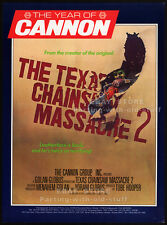 THE TEXAS CHAINSAW MASSACRE 2__Original 1985 Trade AD / movie poster supplement