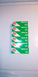6 Boxes Vintage NOS Fuji 110 Super HR 100 24 Exposure Color Print Film