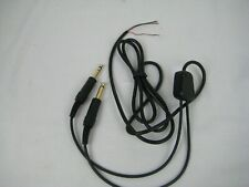 General Aviation Replacement Comm Cable Cord Twin Plug Audio Mic 4 conductor