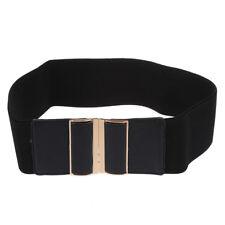 Cintura elastica nero in ecopelle ornamento per donna J9O9 Q0S8