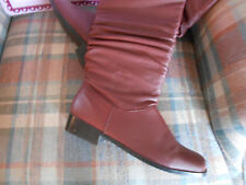 Women's Brown, Low-heels, Boots, size 8(M,B) by Clasique, Leather Upper