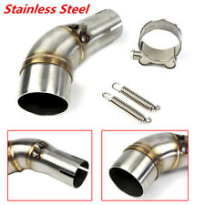 Motorcycle Modification Exhaust Middle Pipe Stainless Steel Muffler Link Pipe