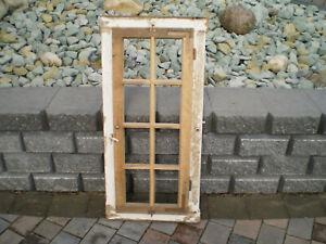 schönes altes Sprossenfenster(1flüglig)mit Rahmen Eiche Oberlicht Deko! 109x50cm