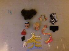 Vintage Fashion Queen Barbie Doll Head #4043 Side Glance eyes B&w bathing suit