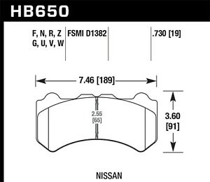 Disc Brake Pad Set-DTC-60 Disc Brake Pad Front Hawk Perf fits 2009 Nissan GT-R