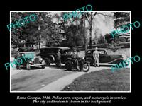 OLD LARGE HISTORIC PHOTO OF ROME GEORGIA, THE POLICE DEPARTMENT SQUAD c1936