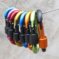 1Pc Aluminum Carabiner D-Ring Key Chain Clip Snap Hook Karabiner Camping Keyring