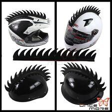 Motorcycle Helmet Warhawk Spikes Mohawks Dirt Biker Stick on Sawblade Universal
