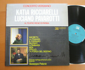 ANC 25001 Pavarotti SIGNED AUTOGRAPHED Pavarotti Ricciarelli Verdi Concert CIME