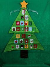 Christmas Tree Advent Calendar Felt Fabric Holiday Countdown 3' Wall Decoration