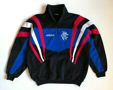 Rare Vintage Adidas Rangers Fleece Pullover 1/3 Zip Track Jacket Soccer Size M