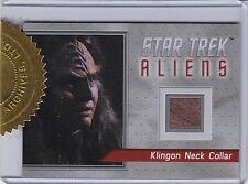 STAR TREK ALIENS 2014 R1 ARCHIVE BOX EXCLUSIVE KLINGON NECK COLLAR RELIC 11/80
