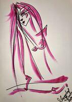 Margarita Bonke Malerei PAINTING art Bild erotica erotika akt abstract Pink Nu