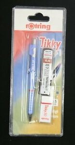 Rotring TIKKY Pencil 0.5 FREE LEADS & ERASER Pastel Blue