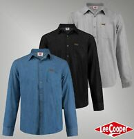 Mens Designer Lee Cooper Stylish Soft Cotton Top Casual Denim Shirt Size S-XXL