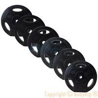 "BodyRip Standard Tri Grip Weight Plate Discs Set 1.25-15kg 1"" Hole Rubber Coated"