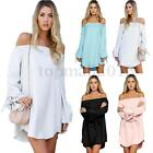 ZANZEA S-4XL Women Long Sleeve Plus Loose Irregular Cocktail Party Shirt Dress