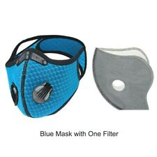 Outdoor Cycling running Sport Mask with carbon Filter color Blue.