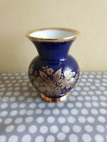 KPM Royal Porzellan Bavaria. Cobalt Blue And Gilded Vase