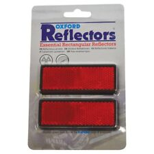 Oxford Motorcycle Self Adhesive Rectangle Reflectors Pair MOT Compliant OX110 T