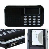 Mini FM Radio LCD Speaker Digital USB Micro SD TF Card Portable Mp3 Music Player