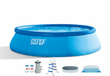 """Intex 15' x 42"""" Easy Set Swimming Pool Complete Kit with 1000 GPH Filter Pump"""