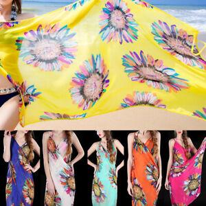 Women Chiffon Wrap Dress Bohemia Beach Cover-up Bikini Wrap Skirt Summer OneSize