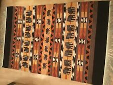 Stunning Elephant Special Tapestry rug carpet Vintage Hand Woven African Lesotho
