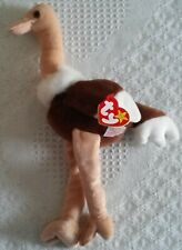 Stretch the Ostrich, Ty Original Beanie Babies, 1997, Excellent condition