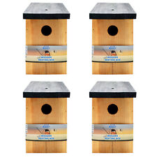 4 x Pressure Treated Wooden Bird House Nesting Box Simply Direct
