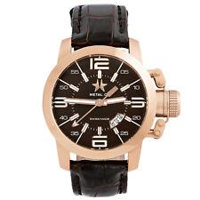 Metal.CH Chronometrie Initial Mens 47mm Swiss Made Rose Gold Watch 1340.47