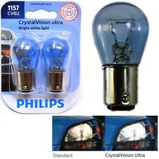 Philips Crystal Vision Ultra Light 1157 27/8W Two Bulbs Stop Brake Upgrade Stock