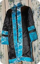 Silk, RAYON  Women's ShorT BLUE BLACK KIMONO JACKET IMPERIAL FASHIONS SIZE 10?