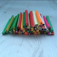 10 tiges batons cane fimo Bijoux 3D Ongles nail fruits + lame