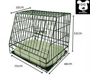 "Folding metal 30""sloping car cage for dogs puppy crate with super soft bed"