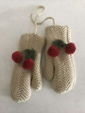 Vintage Rare Midwest Of Cannon Falls Christmas Ornament Or Decor Mittens