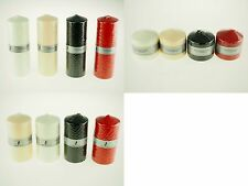 Wax Pillar Column Tower Altar Candle Wedding Red Black Ivory White Gold Silver