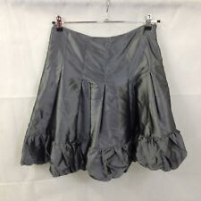 Trinny & Susannah Silver Pleated Silk Look Skirt UK size 12 new with tags