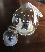 NEW Anthropologie S Paris Eiffel Tower Snow Globe Christmas Ornament Collectable