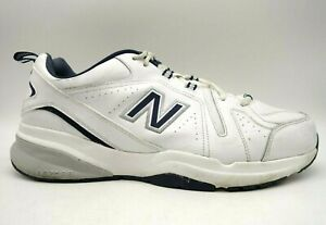 New Balance 608 V5 White Leather Lace Up Running Shoes Men's 14 EEEE / 4 E