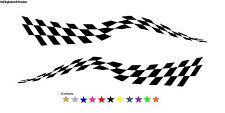 Checkered Flag Decal Boat Truck Drag Car Enclosed Trailer Cargo Race Graphics