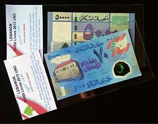 Lebanon 50000 Livres 2012 & 2013  UNC Polymer commemorative Independence Day