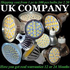 10 x GU10  E14  MR16 /20,24,60 SMD LED  DAY & WARM  WHITE