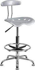 Vibrant Color Drafting Bar Stool with Tractor Seat - Shop Stool, Salon Stool