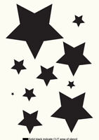 Stars STENCIL Paint Furniture Wall Cardmaking Crafts Reusable Template Art TE66