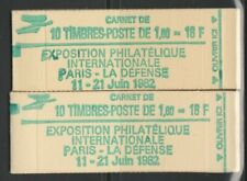 FRANCE paire carnets SABINE 2155c2 et 2155c2a  neufs**