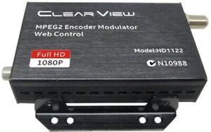 ClearView HD1122 DVBT MPEG2 HD Digital Modulator HDMI Input. Web GUI Control.
