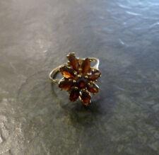 Granatring Goldring 333er Gold 9 Granate Ring 8 Karat GG Gr. 58 Gelbgold